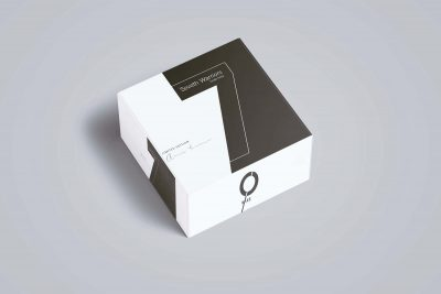 Free Shoes Square Box Packaging Mockup