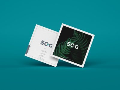 Free Square Business Card Mock-ups
