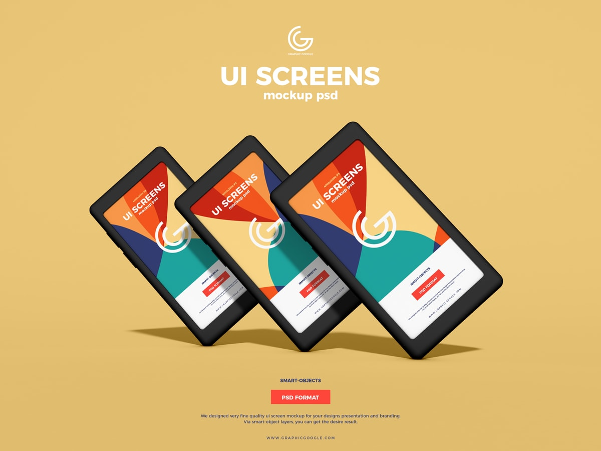 Free UI Screens Mockup