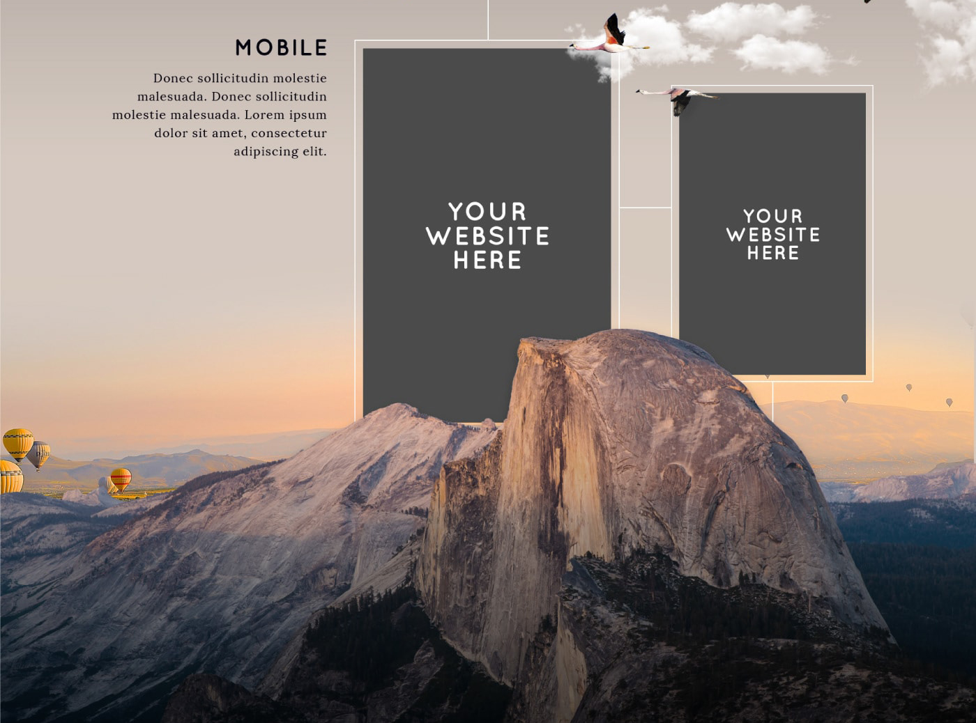Free Vertical Website Presentation Mockup