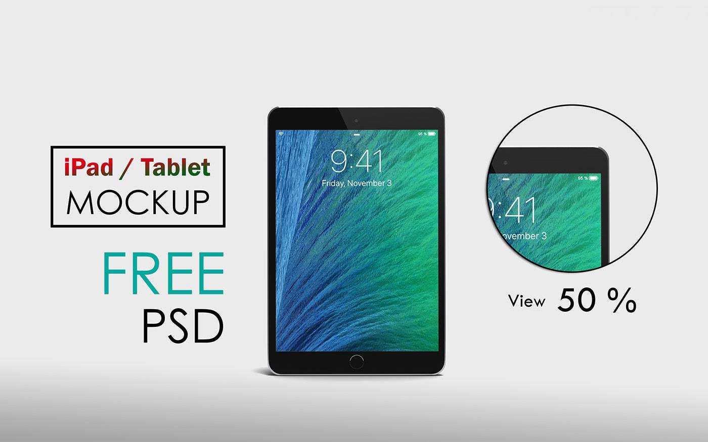 Free iPad / Tablet Mockup