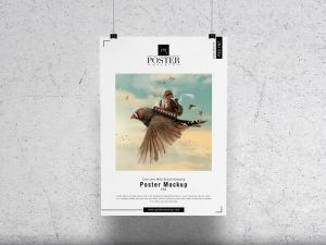 Paper Poster Free Mockup
