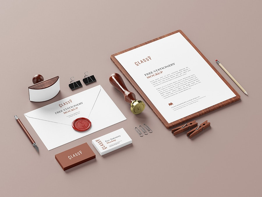 Stationery Free Mock-ups