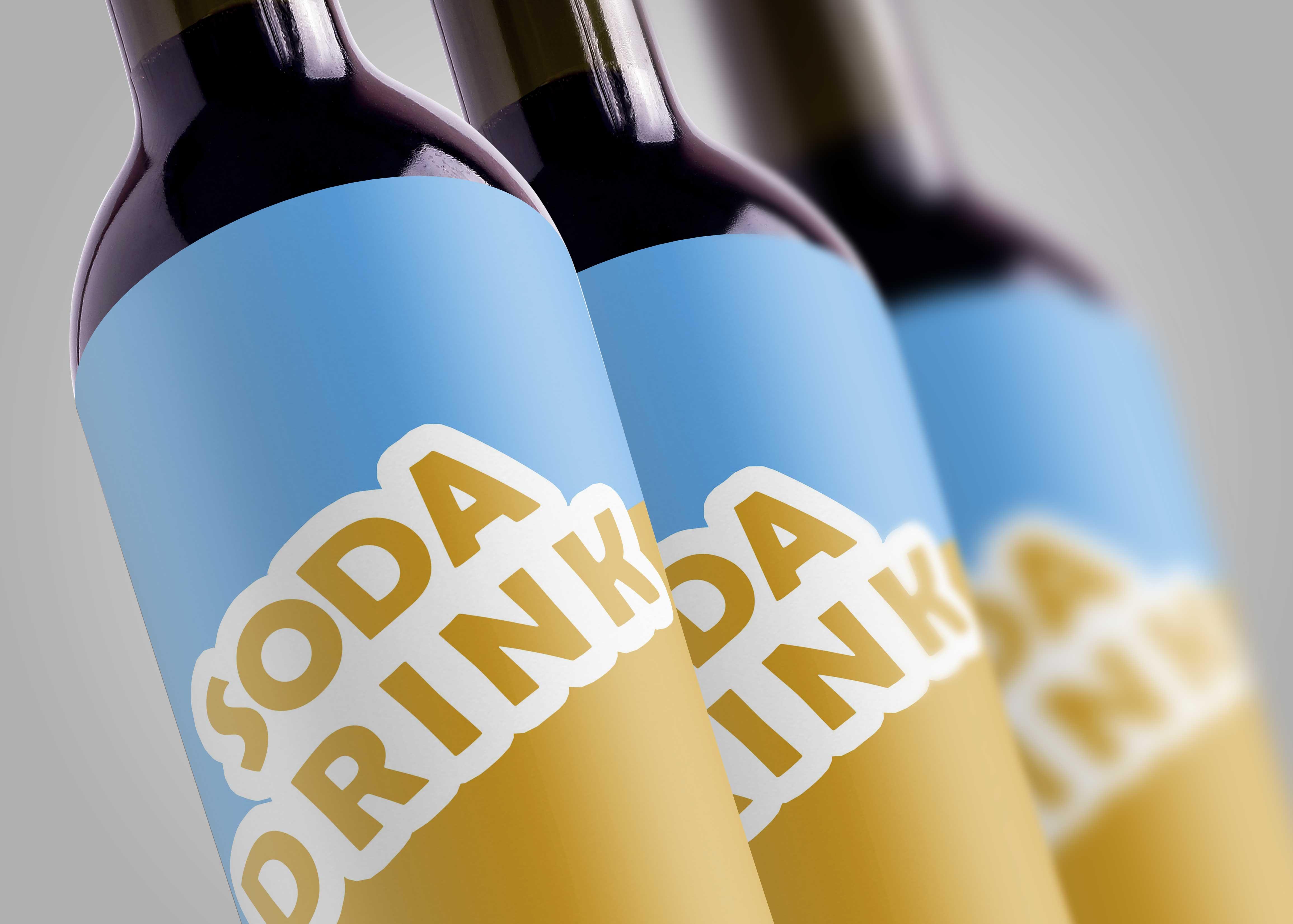Wine Bottles Free Mockup