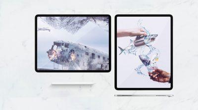 iPad Pro 2018 Landscape & Horizontal Free Mockup