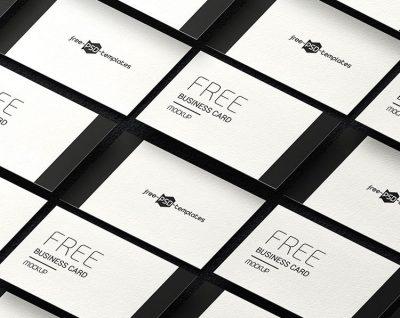 Free Business Card Mock-ups Set