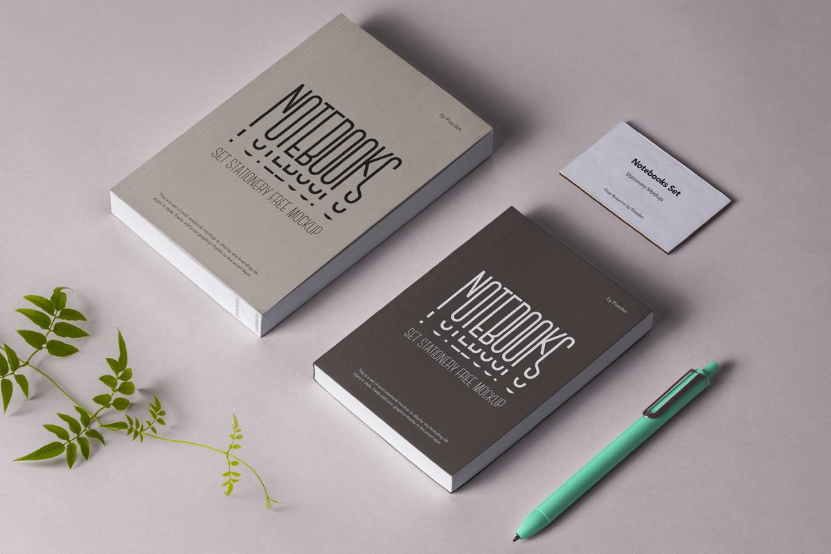 Free Notebook Stationery Mock-ups
