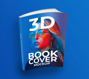 3D Book Cover Free Mockup