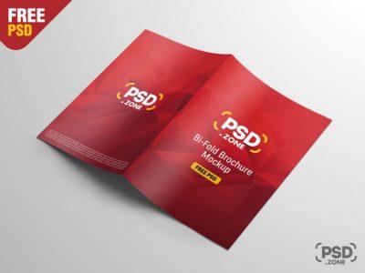 A4 Bi-Fold Brochure Free Mockup