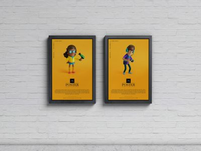 Advertisement Display Posters Free Mock-ups
