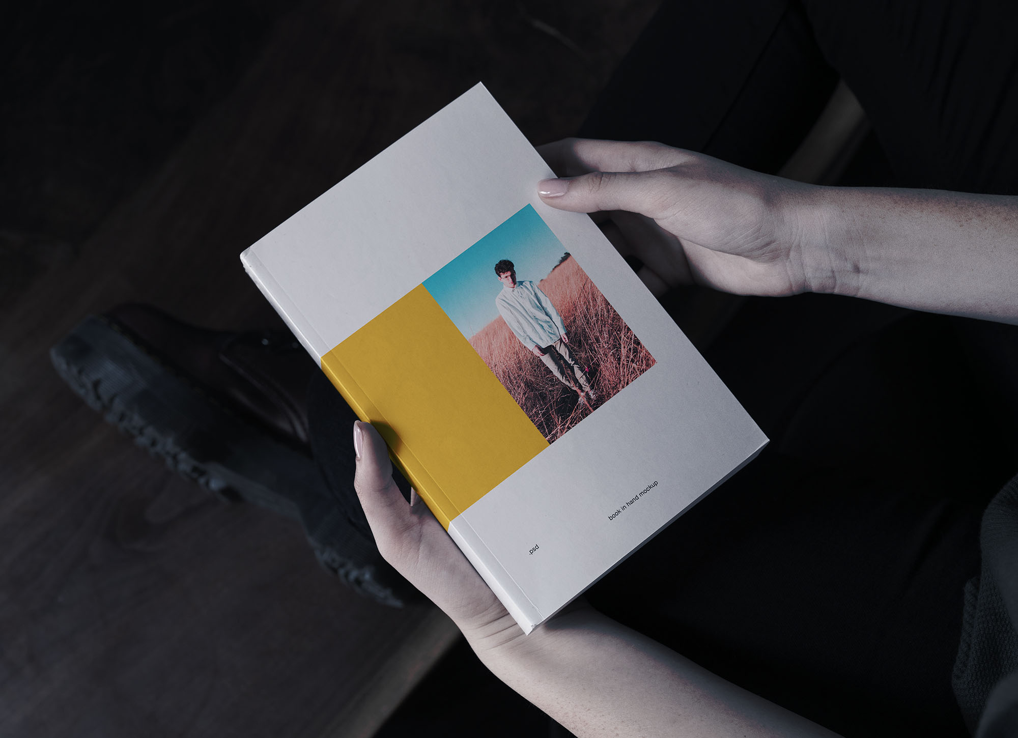 Book in Hand Free Mockup