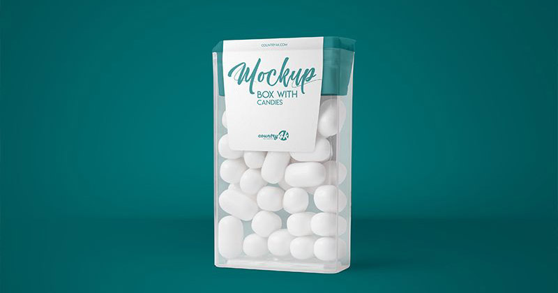 Box with Candies Free Mockup