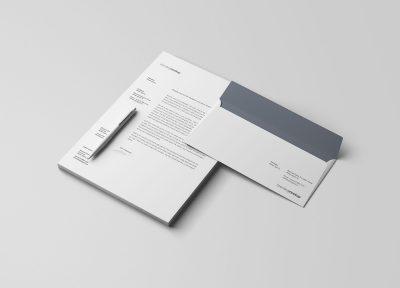 Letterhead and Envelope Branding Free Mockups