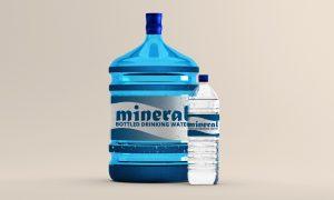 Large Water Bottle Free Mockup
