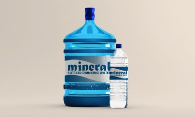 Large Water Bottle Free Mockup