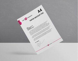 Free A4 Paper Mockup Set