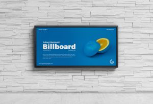 Free Advertisement Wall Billboard Mockup