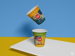 Free Brand Paper Cups Mockup