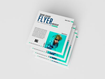 Free Brand Square Flyer Mockups