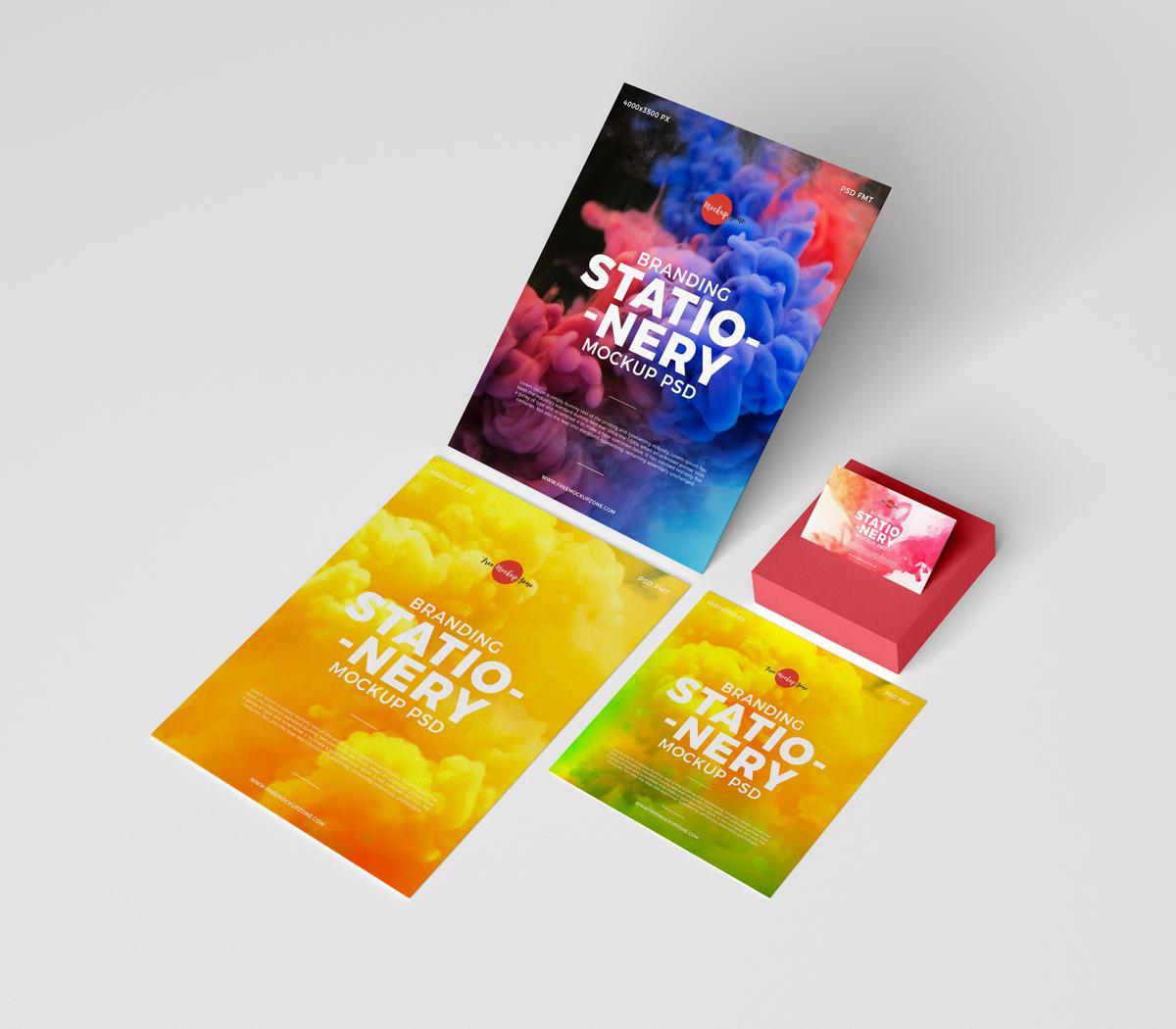 Free Branding Stationery Mock-ups