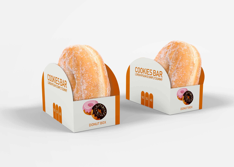 Free Doughnuts Packaging Mockup