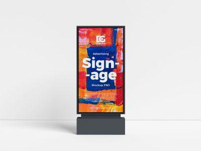 Free Outdoor Advertising Signage Mockup