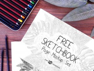 Free SketchBook Page Mockup Set