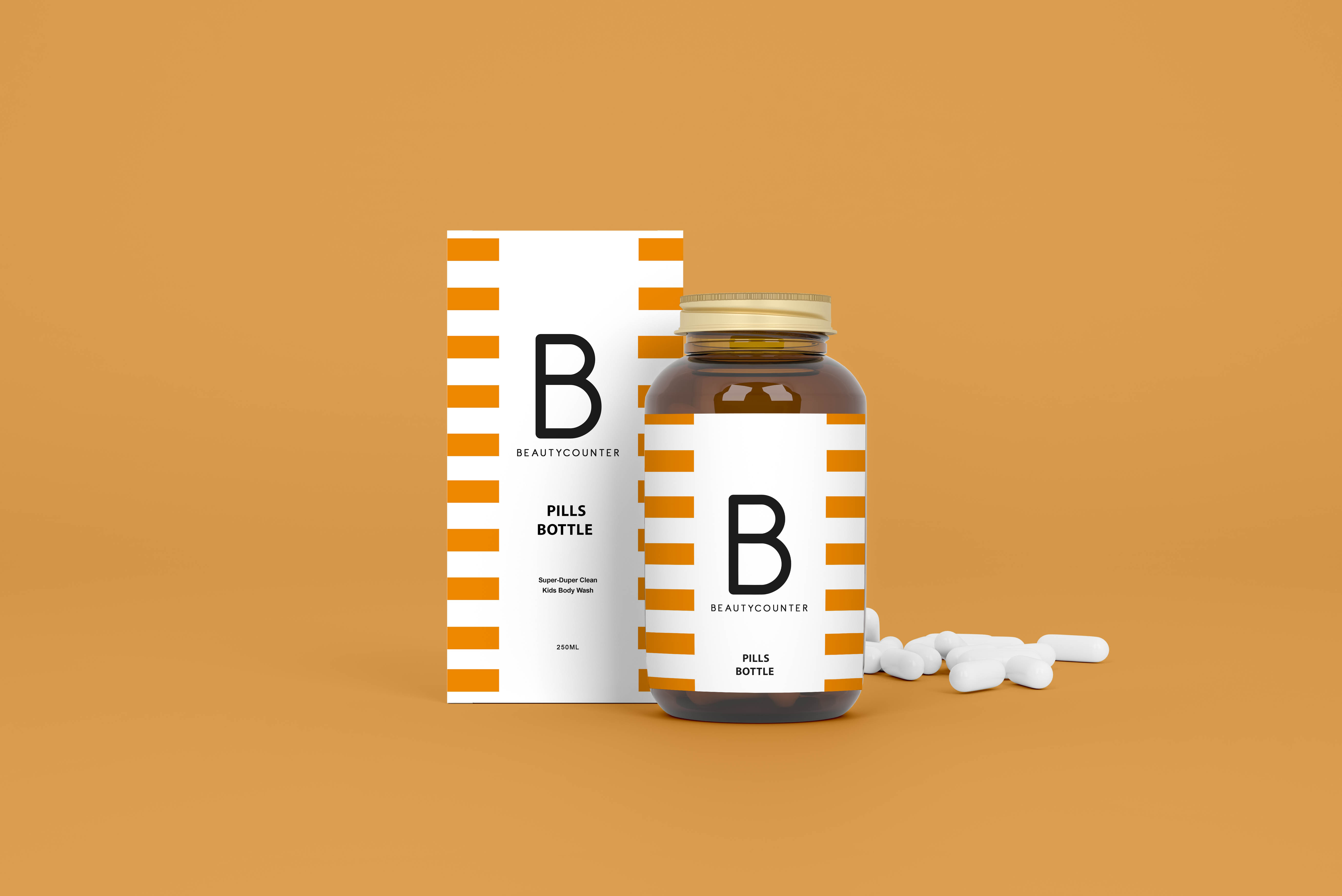 Free Medical Bottle Mockup