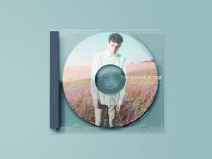 Transparent CD Case Free Mockup