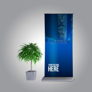 Free Realistic Roll-up Mockup