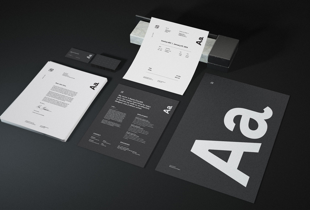 Free Granite Stationary Mockups
