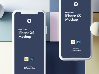 iPhone XS Sketch Free Mockups