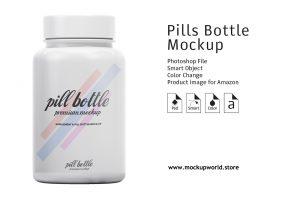 Free Pharmaceutical Pills Bottle Mockup