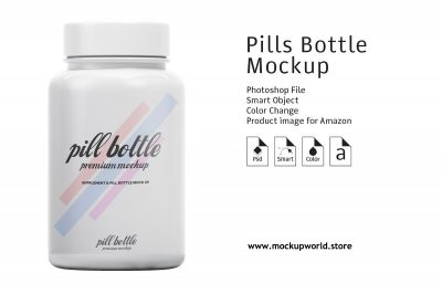 Free Pharmaceutical Pills Bottle Mockup