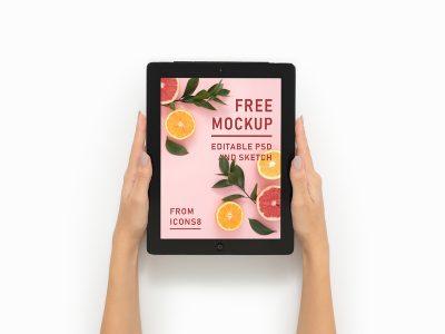 iPad 12.9 Pro Free Mockup