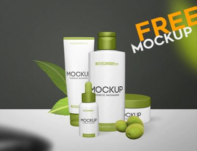 Cosmetic Packaging Free Mockups
