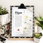Free Clipboard Paper Mockup