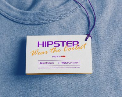 Free Clothing Hang Tag Mockup