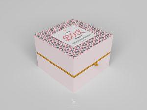 Free Half Side Packaging Box Mockup