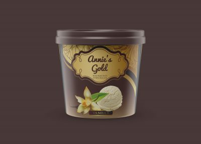 Free Ice Cream Tub Label Mockup