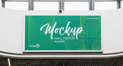 Free Mall Indoor Banner Mockup