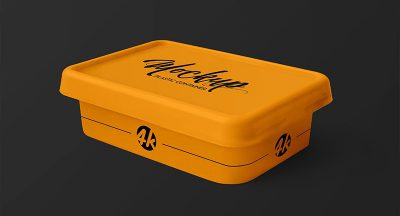 Free Plastic Container Mockup