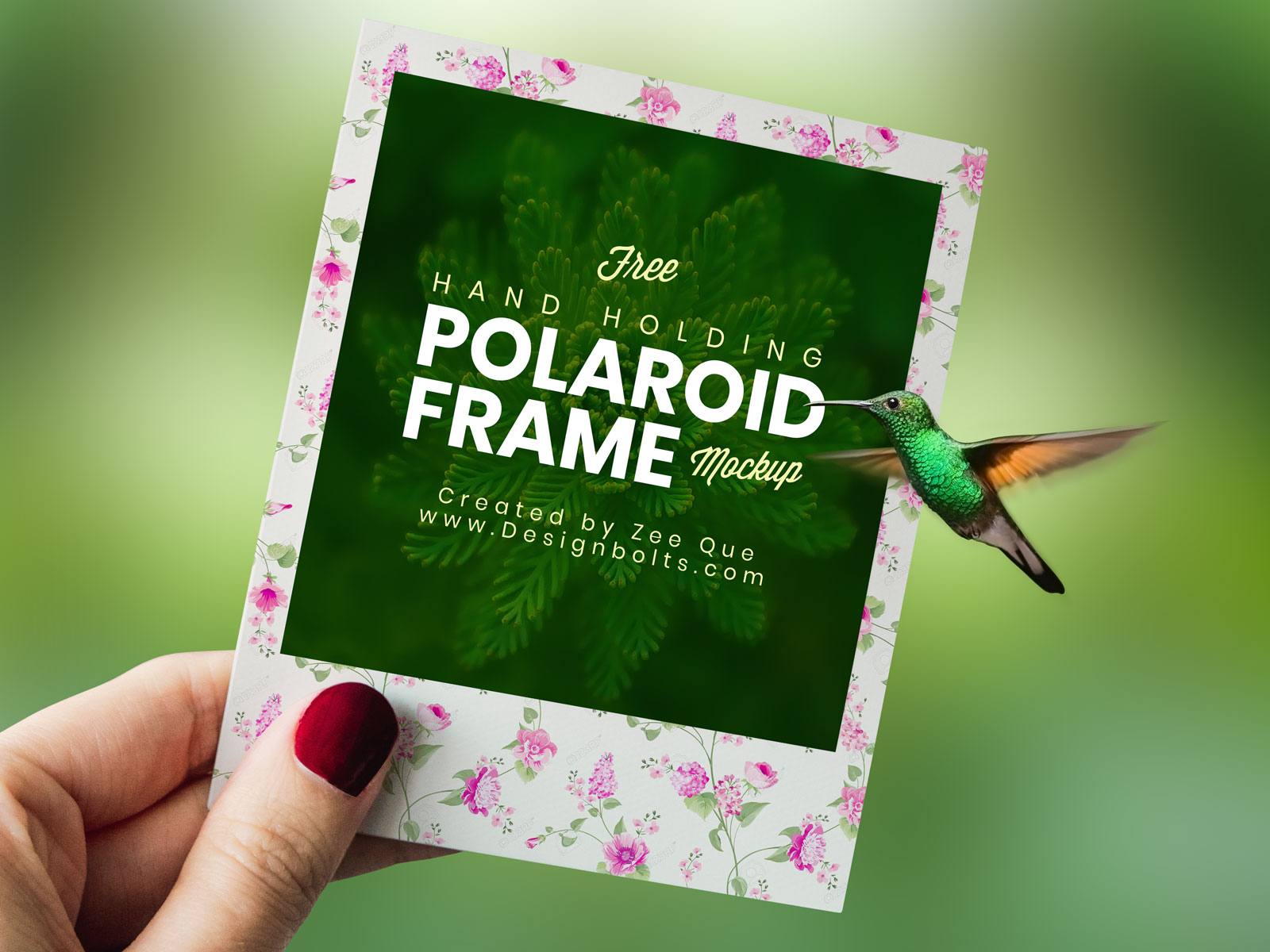 Free Polaroid Photo Frame Mockup