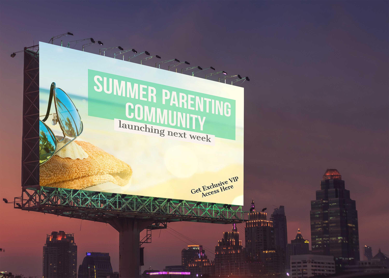 Free Street Billboard Design Mockup