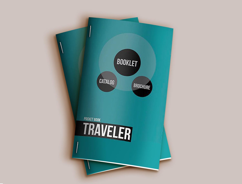 Pocket Booklet Catalog Free Mockup