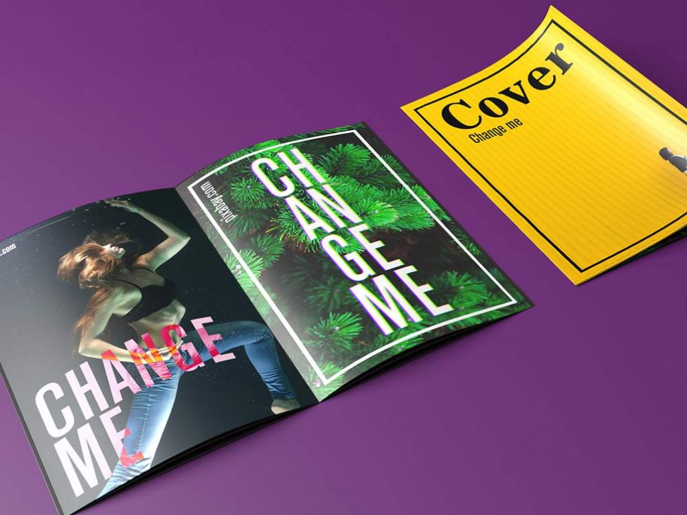 A4 Magazine Mockup Free PSD Template