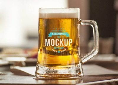 Beer Mug Mockup Free PSD Template