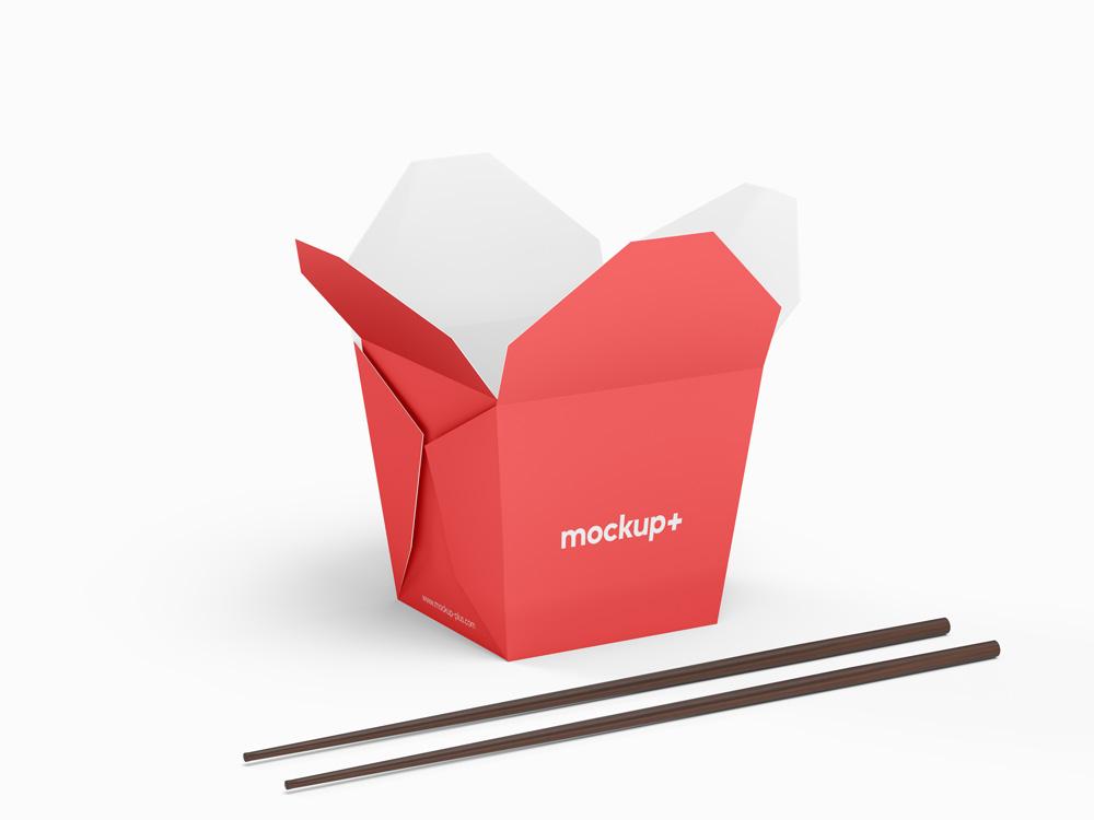 Chinese Noodles Packaging Free Mockup Free Mockup