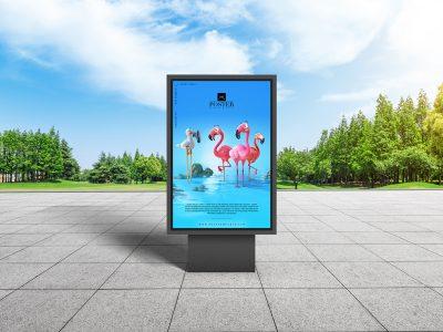 City Park Outdoor Advertisement Billboard Poster Mockup