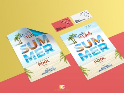 Free Business Card & Flyer Mockups